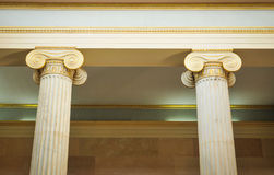Columns in Athens, Greece. Architectural detail of Corinthian columns in Athens, Greece Stock Photos