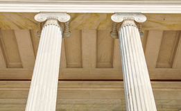 Columns in Athens, Greece. Architectural detail of Corinthian columns in Athens, Greece Stock Image