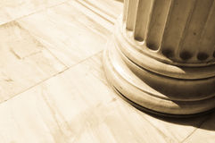 Columns in Athens, Greece. Architectural detail of Corinthian columns in Athens, Greece Royalty Free Stock Photo