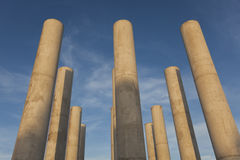 Columns in the axe majeur, Cergy Pontoise Royalty Free Stock Photography