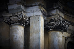 Columns in baroque style Stock Photography