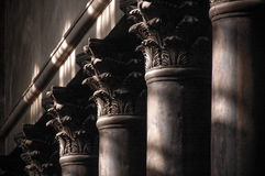 The columns with bas-relief Royalty Free Stock Images