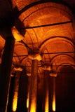 Columns of Basilica Cistern Royalty Free Stock Image