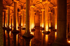 Columns of Basilica Cistern Royalty Free Stock Image