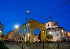 Columns and Basilica of San Lorenzo in Milan Royalty Free Stock Photo