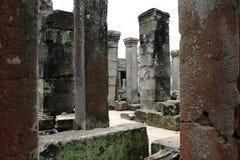 Columns in Bayon. Angkor, Siem Reap. Cambodia Stock Image