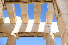 Columns & beam of Parthenon 2 Royalty Free Stock Photography