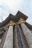 Columns with beautiful stones at Eremitage, Old Palace in Bayreu Royalty Free Stock Image