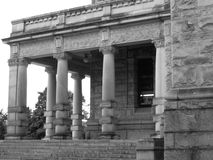 Columns in Black and White. Old columns in black and white from the government building in Victoria, BC Royalty Free Stock Images