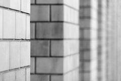 Columns on black and white Royalty Free Stock Photography