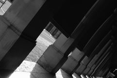 Columns in black and white Royalty Free Stock Images