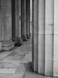 Columns in black and white Stock Image