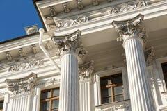 Columns on blue sky background.  Stock Photos