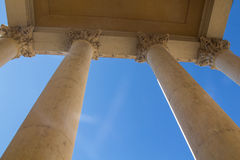 Columns with blue sky behind Royalty Free Stock Photo