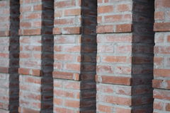 Columns of bricks background Royalty Free Stock Photos