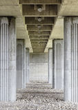 Columns of a bridge Stock Photos