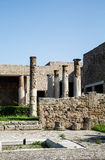 Columns and Broken Walls in Pompeii Stock Images