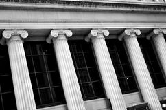 Columns on Building Bank Finance Stock Images