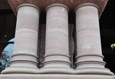 Columns of a building Royalty Free Stock Photography