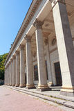 Columns of a building in the classical style of the Soviet era Stock Images
