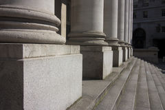 Columns of a building in london Royalty Free Stock Photos