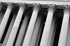 Columns for Building Old Detail Architecture Royalty Free Stock Image