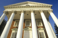 Columns on building at University of Virginia inspired by Thomas Jefferson, Charlottesville, VA Royalty Free Stock Photo