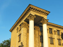 The columns of so called Stalin's Empire style. (photo royalty free stock photography