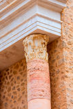Columns in Cartagena Roman Amphitheater Spain Stock Photography