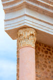 Columns in Cartagena Roman Amphitheater Spain Royalty Free Stock Image
