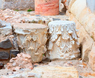 Columns in Cartagena Roman Amphitheater Spain Royalty Free Stock Images