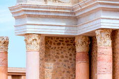 Columns in Cartagena Roman Amphitheater Spain Stock Image