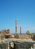 Columns in Carthage. Beautiful ancient columns in Carthage, Tunisia Royalty Free Stock Images