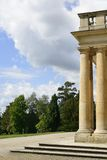 Columns at castle, Hoenheim Royalty Free Stock Photography