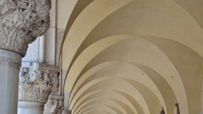 Columns and ceiling of the Doge's Palace in Venice, Italy Stock Photography