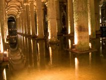 Columns in cistern Stock Images