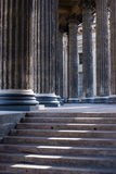 Columns. Close-up of columns with stairs Stock Image