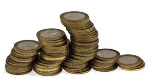 Columns of coins Royalty Free Stock Image
