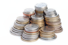 Columns of coins Royalty Free Stock Photos