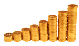 Columns of coins Stock Image