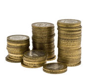 Columns of coins 2 Stock Image