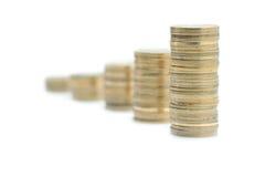Columns of coins Royalty Free Stock Photos