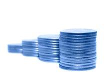 Columns of coins. Royalty Free Stock Photos