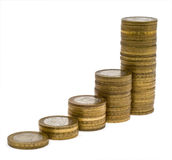 Columns of coins 4 Royalty Free Stock Image