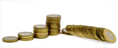 Columns of coins 5 Royalty Free Stock Photos