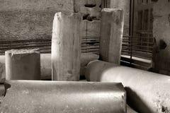 Columns of the Coliseum, Rome, Lazio, Italy. Stock Photography