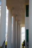 Columns on Colonial Home Royalty Free Stock Images