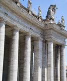 Columns of the colonnade, Vatican City Stock Photography
