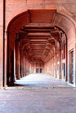 Columns and corridor detail at Fatehpur Sikri, India Royalty Free Stock Images