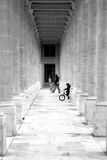 Columns corridor Stock Image